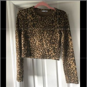 3 for 30 Zara Leopard print crop top size medium